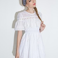 Carmen White Eyelet Dress