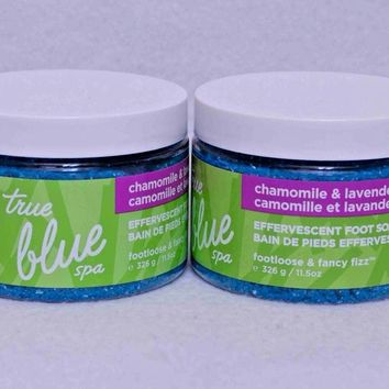 2 PACK Bath & Body Works True Blue Spa Chamomile & Lavender FOOT SOAK 10 oz