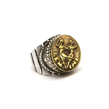 Gemini Sign Astrology Zodiac Ring