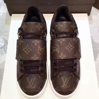 LV Sports Shoes Leisure Shoes Louis Vuitton Women Fashion Casual Flats Shoes Coffee