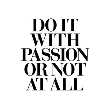"""Printable Art Inspirational Print """"Do It With Passion"""" Typography Quote Home Decor Motivational Poster Scandinavian Design Wall Art"""