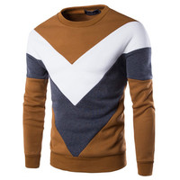 New Color Blocked Men's Fashion Sweatshirt