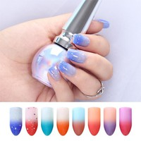 BORN PRETTY Sunlight Sensitive Nail Polish 6ml Champs Elysees Series Color Changing Lacquer Peel Off Thermal Manicure Varnish