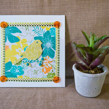 Spring - Embellished Mini Canvas - Spring Decor - Home Decor
