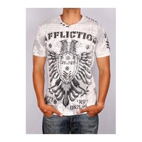 Rusty Spur Couture Affliction Sentiment Cross Tape Tee - A6350, ,