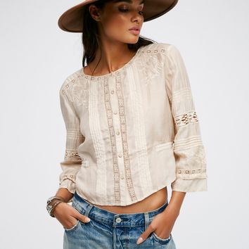 Free People Heirloom Blackbird Blouse