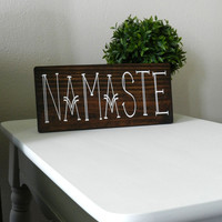 Namaste Wooden Sign - Bohemian Decor - Yoga Home Decor - Hippie Wall Hangings - Gypsy Wall Decor - Hippie Room Decor - Boho Wall Hangings