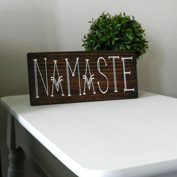 Namaste Wooden Sign Bohemian Decor Yoga Home Decor Hippie Wall Hangings Gypsy