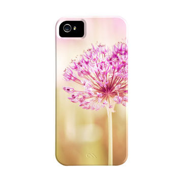 Flower iPhone Case 5 4s 4  pink pretty iphone 5 by CarolynCochrane