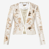 GOLD SEQUIN JACKET - Gold | Tailoring | Ted Baker UK