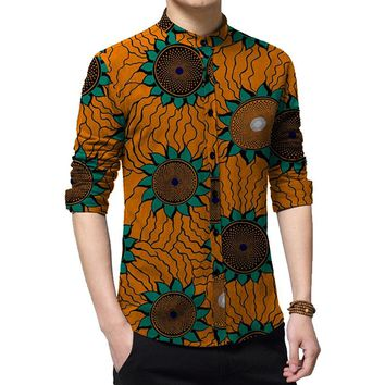 African Print Long Sleeve Shirt
