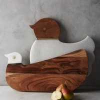 Cluck & Coo Cutting Board by Anthropologie in Neutral Size: