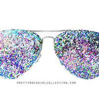 Multi Color Unisex Aviator Sunglasses
