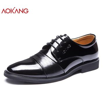 New arrival designer Men's leather flat shoes casual Dress Shoes office mens shoes derby shoes