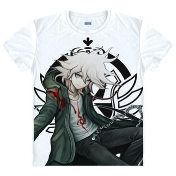 Danganronpa t shirt Summer Dangan Ronpa cotton short-sleeved T-shirt Casual Komaeda Nagito Cosplay Tshirt Tops Tees Anime