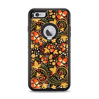 The Colorful Floral Pattern with Strawberries Apple iPhone 6 Plus Otterbox Defender Case Skin Set