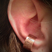 Copper Viking Rune Ear Cuff Ring Jewelry Pagan Wiccan Wicca Witchcraft Runes Stones Copper  Elder Futhark Norse