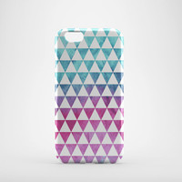 Watercolor triangle case iPhone 6 iPhone 5 iphone 4 Samsun Galaxy S3 S4 Xperia Z 3D Case, iphone case, hard case plastic case