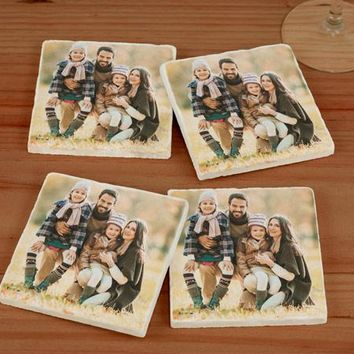 Personalized Photo Marble Coasters
