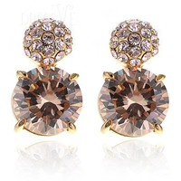 Champagne Crystal Lady's Earrings