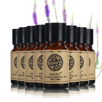 AKARZ Famous brand value meals Jasmine Eucalyptus Tea Tree Citronella Musk Oregano Rose Cherry blossom essential Oils 10ml*8