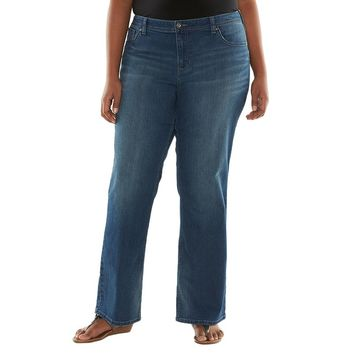 Apt. 9 Embellished Bootcut Jeans - Women's Plus Size, Size: