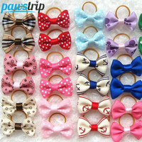 10pcs/lot Ribbon Pet Dog Hair Bow Small Puppy Rubber Band Hairpin Grooming Accessories