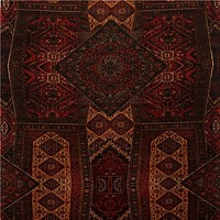 Mulberry Fabric FD273.V106 Velvet Oriental Carpet Red
