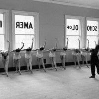 Dancers at George Balanchine's School of American Ballet Lined Up at Barre During Training Photographic Print by Alfred Eisenstaedt at eu.art.com
