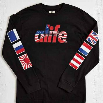 ALIFE Infinity Flag Long-Sleeve Tee- Black
