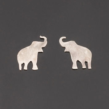 online daisy elephant plate gold stud good jewellery karma london new earrings