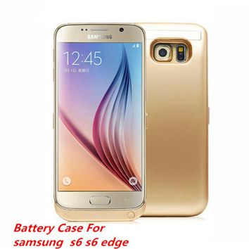 6500mah External Power Bank Battery Charger Case for Samsung Galaxy S6 / S6 Edge