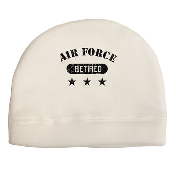 Retired Air Force Adult Fleece Beanie Cap Hat