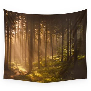 Society6 Morning Forest Wall Tapestry