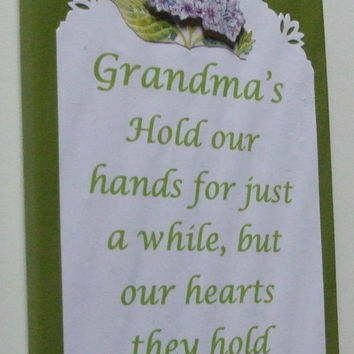 Grandma wall decoration, Grandma poem, Grandma sign, stocking stuffer, gift topper,