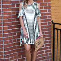 Fun For Summer Dress, Ivory-Black