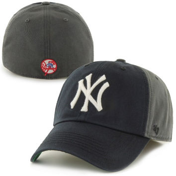 New York Yankees '47 Brand Nightshade Franchise Fitted Hat – Gray