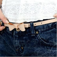 Bow-Accent Slim Belt