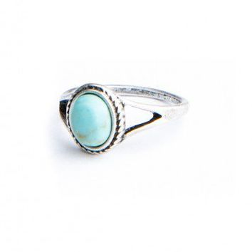 Brandy ♥ Melville |  Turquoise Stone Vintage Ring - Rings - Jewelry - Accessories