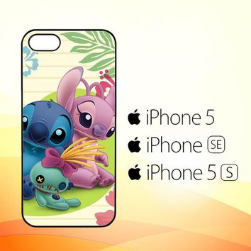 stitch and angel WALLPAPER Y1725  iPhone 5|5S|SE Case