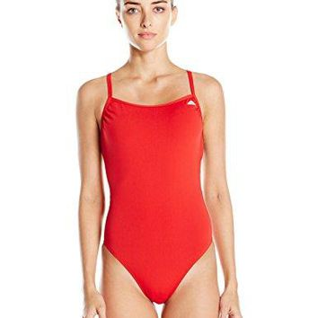 adidas Womens Solid CBack One Piece Swimsuit