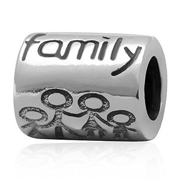 Ollia Jewelry 925 Sterling Silver Beads Parent and Children Hand in Hand Charm We Are Forever Charm Family Love Charms