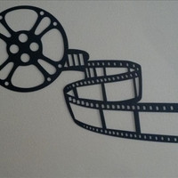 Home Theater Decor Movie Reel with Film Metal Wall Art