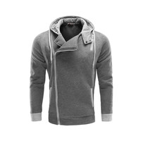 Slim Zippers Hats Korean Hoodies Men Cotton Jacket [6528747843]