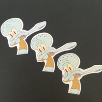 Squidward Dab Sticker Set