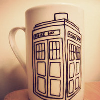 Dr Who Tardis mug by Mr Teacup by MrTeacup on Etsy