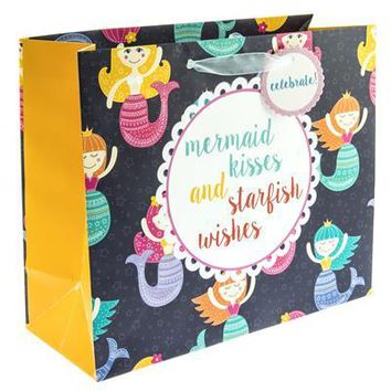 Mermaid Wishes Large Gift Bag