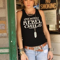 REBEL CHILD BIKER TANK - Junk GYpSy co.
