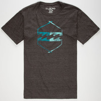 Billabong Axis Mens T-Shirt Heather Black  In Sizes