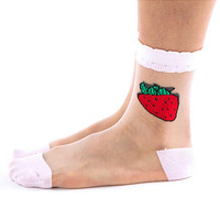 PRE-ORDER Strawberry Mesh Socks